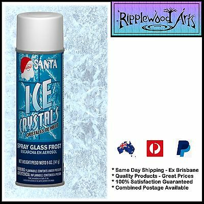 Santa Artificial ICE CRYSTALS - Use on Windows, Mirrors and Glass  x 1