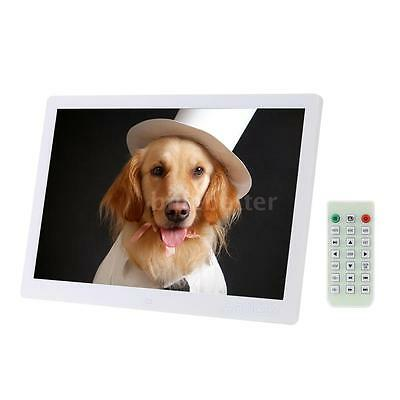 15.6inch HD LED Digital Photo Picture Frame Alarm Movie Player Remote X-mas UW28