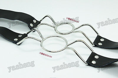 Cowhide Genuine Real Cow Leather O Ring Open Mouth Ring Gag Fetish restraint