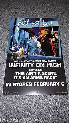 Fall Out Boy Infinity On High  Promotional  Poster  RARE