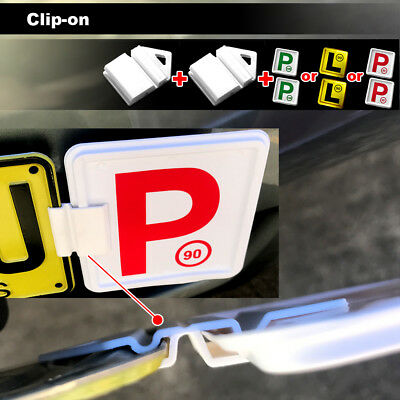 Clip It On P Plate Clips Car Number Licence Plate: 2( RED-P-90) NSW Only