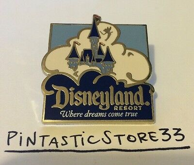 BLUE & WHITE CASTLE TINKER BELL Tinkerbell DLR Disney Castle Travel Vacation Pin