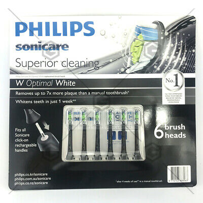 6Pack Philips Sonicare Diamond Clean Replacement Electric Toothbrush Heads B-EXP