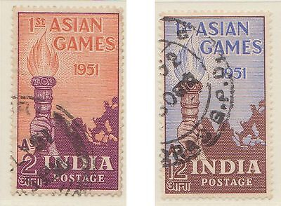 (IC-7) 1951 India 2set torch and map asia games