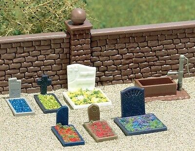Busch 7662 Grave Stones, Assorted plastic - HO/00 Gaugee - 1st Class Post