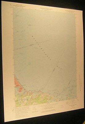 Nantasket Beach Strawberry Point Massachusetts 1975 antique color lithograph map
