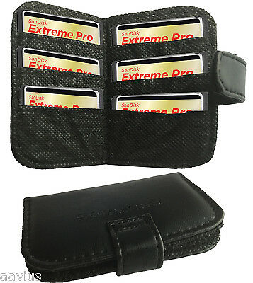 Folding Protective Carrying Case Memory CF CompactFlash Cards 6 Slots Wallet