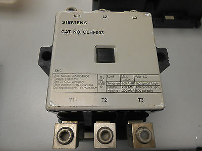 Siemens Clhf003 200 Amp 600 Volt 3 Phase Lighting Contactor