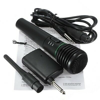 Microphone Wireless/Wired 2in1 Handheld Cordless Mic For Karaoke Singing DJ US