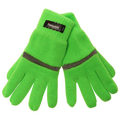 OCTAVE® Kids Hi Vis Reflective Thinsulate Gloves - For Both Warmth & Safety