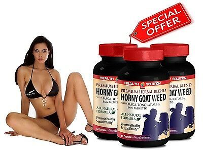 L-Argenine - Horny Goat Weed 1000mg - Saw Palmetto - Tongkat Ali - 3B 180Ct