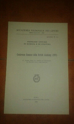 Conferenze Romane Della British Academy 1971 More Scott Skelton Accademia Lincei