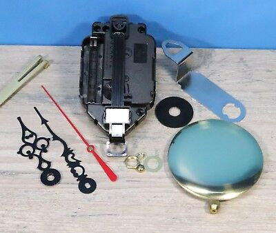 "Quartz Battery Pendulum Clock Movement LIFETIME WARRANTY  3/8""  Dial w/ pendulum"