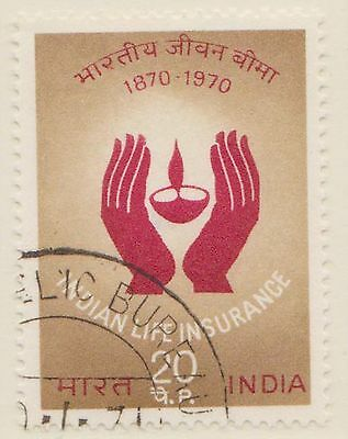 (IC-144) 1971 India 20np hands shielding flames