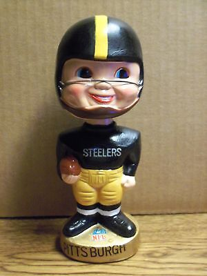 1968 - 70, Pittsburgh Steelers, Nodder/Bobble Head Gold Round Base Merger Series