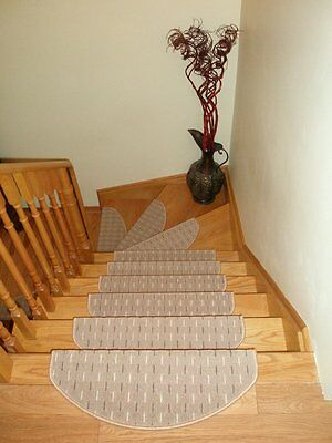 Set of 15 Carpet Stair Mats,  Stair Treads made in Europe  -