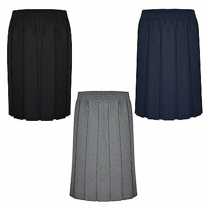 Elasticated School Skirt Box Pleated Uniform Girls Kids All Sizes Free Delivery