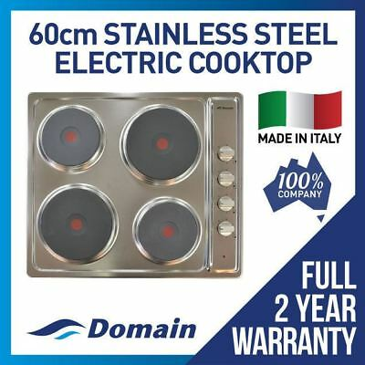 60cm STAINLESS STEEL ELECTRIC COOKTOP / COOK TOP / COOKER / STOVE