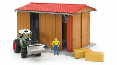 Bruder 62520 - bworld Horse Stable with Woman and Accessories Scale 1:16