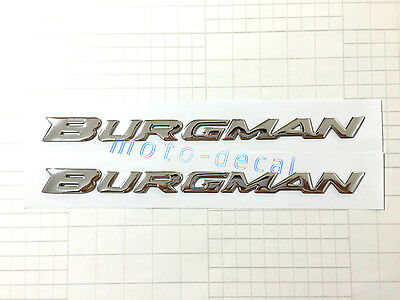 Raised 3D Chrome Suzuki Burgman AN125/200 AN400 AN650 Decal Emblem Sticker Bling