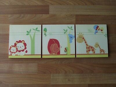 My Jungle Family Canvas Wall Art Plaques/pictures Set- Free Postage