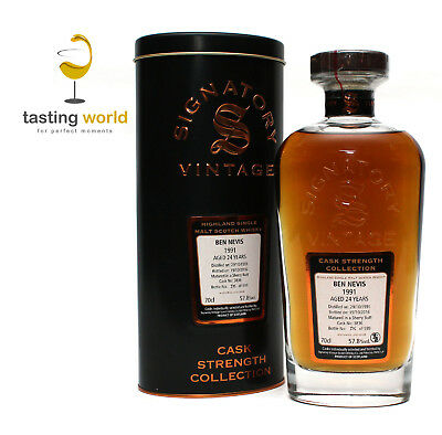 SHERRY CASK! Ben Nevis 1991 Signatory Vintage Cask Strength 57,4% - 1 of 626
