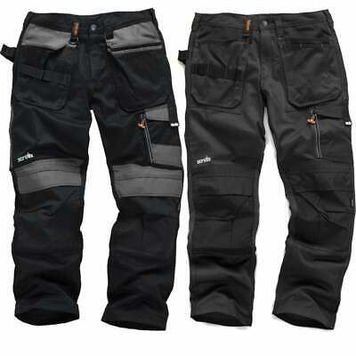 SCRUFFS Work Trousers 3D TRADE Hard-Wearing CORDURA FABRIC Knee Pad Pockets