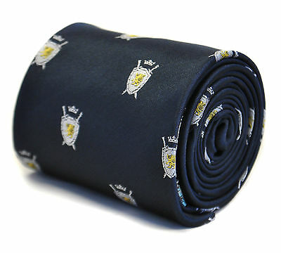 Frederick Thomas Navy Mens Tie with Coat of Arms Shield design FT2195 RRP£19.99