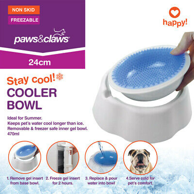 Pet Cooling Cool Bowl Freezable Chilled Water Bowl Summer Chilled Frozen Dog Cat