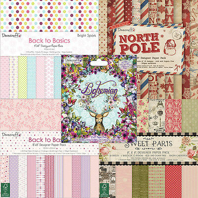 """Dovecraft scrapbooking paper 8""""x8"""" full pack or single sheets"""