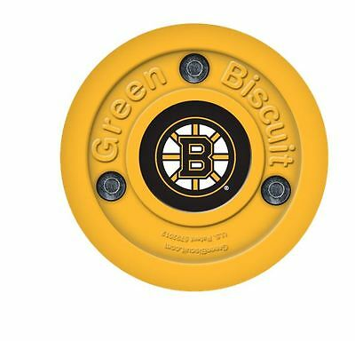 NEW OFF ICE TRAINING GREEN BISCUIT Boston Bruins PUCK
