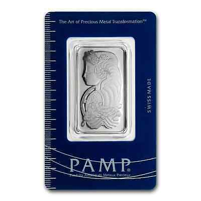 1 oz Platinum Bar - PAMP Suisse (In Assay) - SKU #46995