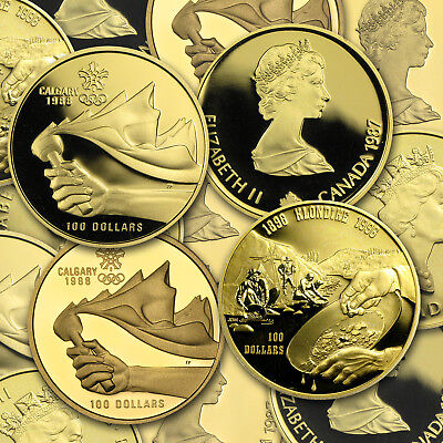 1987-2005 Canada 1/4 oz Proof Gold $100 (Random Year) - SKU #68356