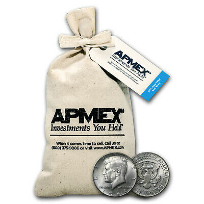 90% Silver Kennedy Half-Dollars $100 Face-Value Bag (1964) - SKU #5299