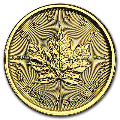 2015 Canada 1/10 oz Gold Maple Leaf BU - SKU #84893