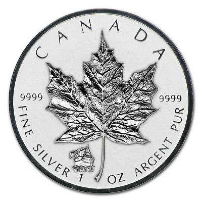 2012 Canada 1 oz Silver Maple Leaf Titanic Privy - SKU #68122