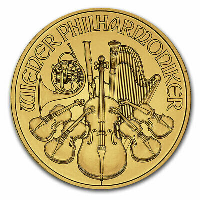 Austria 1/4 oz Gold Philharmonic BU (Random Year) - SKU #11176