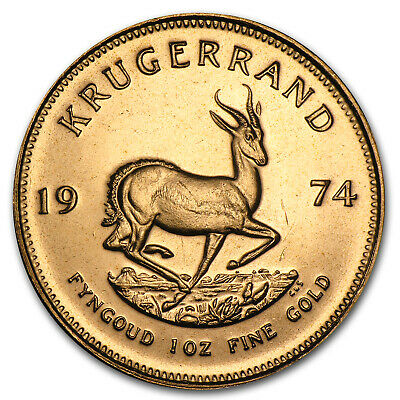 1974 South Africa 1 oz Gold Krugerrand - SKU #74354