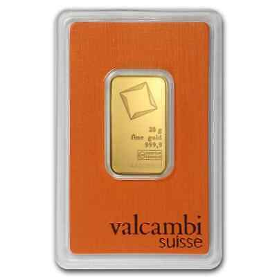 20 gram Valcambi Gold Bar - In Assay Card - SKU #77424