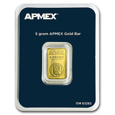 5 gram Gold Bar - APMEX (In TEP Package) - SKU #63283