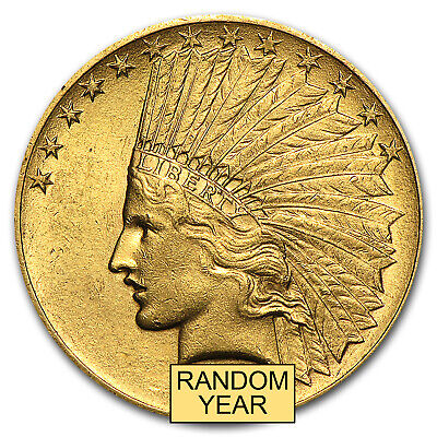$10 Indian Gold Eagle AU (Random Year) - SKU #4026