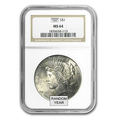 1922-1925 Peace Dollars MS-64 NGC - SKU #15621