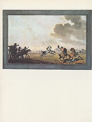 """1974 Vintage HUNTING /""""THE SMOKING HUNT AT BRAUNSTONE/"""" COLOR Art Print Lithograph"""