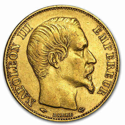 France Gold 20 Francs Napoleon III Avg Circ - SKU #44326