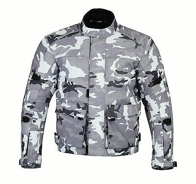 CAMO Mens Camouflage Waterproof Motorbike Bike Textile Motorcycle Jacket Armours