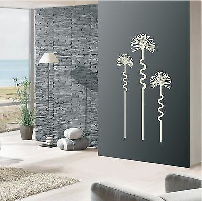wandtattoo wandaufkleber retro blumen deko sticker. Black Bedroom Furniture Sets. Home Design Ideas