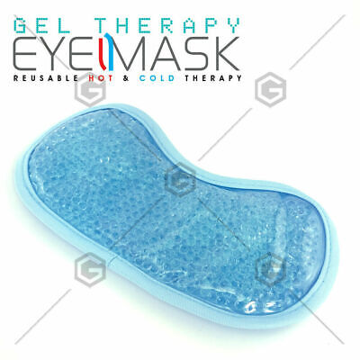 Eye Mask Cooling Reusable Eye Mask with Gel Beads for Hot Cold Therapy & Pain