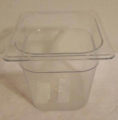 Rubbermaid Commercial Products FG106P00CLR 1/6 Size 2-1/2-Quart Cold Food Pan