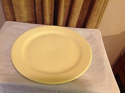 """Vintage Taylor Smith & Taylor Lu-Ray Pastels Yellow Chop Plate Platter 14"""""""