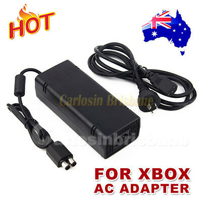 AC Charger Power Supply Cord Cable For Xbox 360 Adapter Slim Brick 135W Black